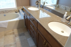Vanities with White Sinks
