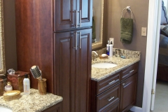 Vanity with Utility Cabinet